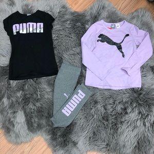 Puma Girls' 3 Piece Set: Purple (PM914)
